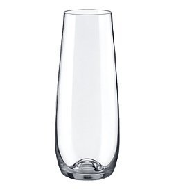 Rona DRINK MASTER Stemless Champagne Flute Glass 7.75 oz. | Set of 4 (Champagne Flute Ounces)