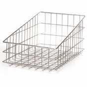 Win-Holt WSBB1118 Nickel Chrome Wire Slant Top Bagel / Bun Basket (Bagel Baskets)