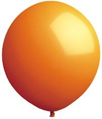 Giant 60 Inch Orange Latex Balloon