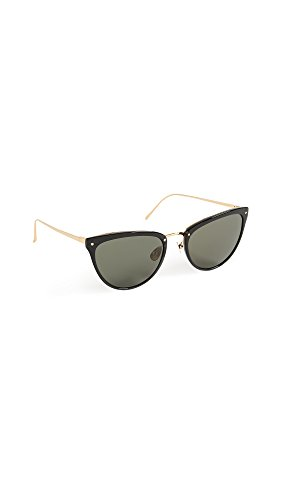 Linda Farrow Luxe Women's Cat Eye Sunglasses, Black/Grey, One - Linda Cat Eye Sunglasses Farrow