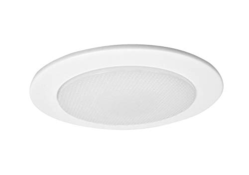 NICOR Lighting 4-inch Recessed Lighting Shower Trim with Albalite Lens, White (19509WH)