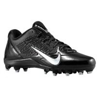 Nike Mens Alpha Pro TD Football Cleats (Black/Metallic Silver Size 13)