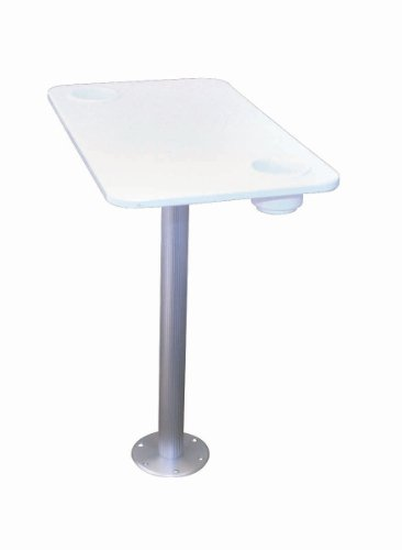Garelick/Eez-In 75349:01 Stowable Pedestal System with Polymer Table Top