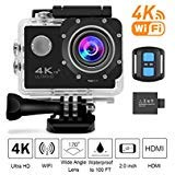 4K Sports Action Camera Wifi with Remote 98In Waterproof Case 2