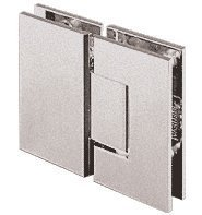 CRL Geneva 180 Series Brushed Nickel 180Ã'º Glass-To-Glass Standard Hinge by C.R. Laurence