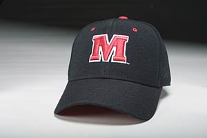 Maryland Terps Black DH Fitted Hat by Zephyr Size 6 7/8 (Zephyr Hat Maryland)