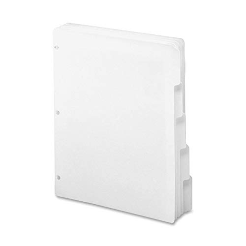 White Dividers 8.5 (Smead 3-Ring Binder Index Dividers, 5-Tab, 11