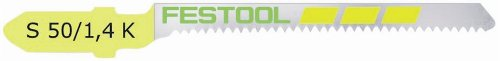 Festool 486564 S 50/1.4 K Scroll-Cut Jigsaw Blade, 2 Inch, 18 TPI, 5-pack