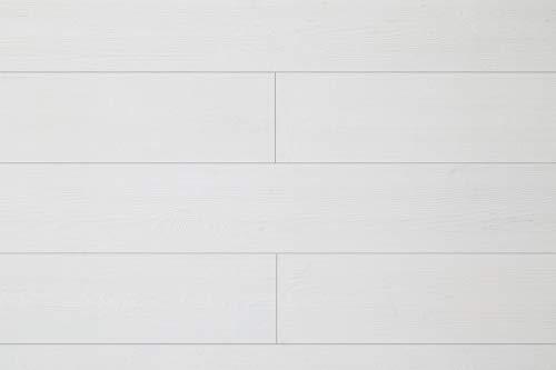 WoodyWalls Peel and Stick Wood Panels. (19.5 sq. ft. per Box) Santorini (Pure White) (Peel And Stick Wood Panels For Walls)