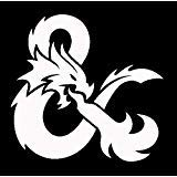 Dungeons and Dragons AND White Decal Vinyl Sticker|Cars Trucks Vans Walls Laptop| White |5.5 x 5.5 - Vinyl Dragon