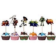 TOYSTORYCAKE Toy Story Themed Decorative Cupcake Toppers Party Pack for 24 Cupcakes by TOYSTORYCAKE (Image #1)