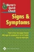 Read Online By Lippincott Williams & Wilkins - Nurse's Quick Check: Signs and Symptoms: 1st (first) Edition ebook