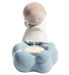 Nao by Lladro Collectible Porcelain Figurine: LITTLE ANGEL candle holder - 4 3/4