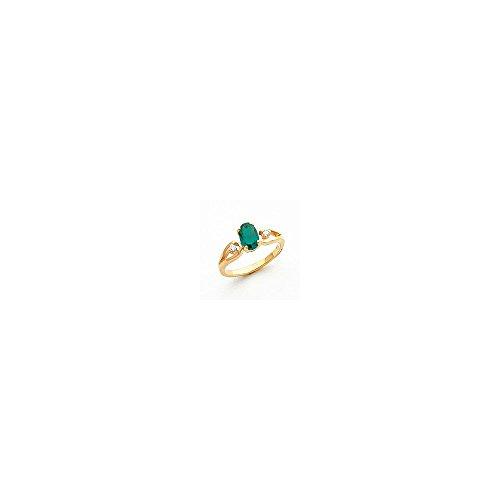 (Jewelry Adviser Rings 14k 7x5mm Oval Mount St. Helens VS Diamond ring Diamond quality VS (VS2 clarity, G-I color) )