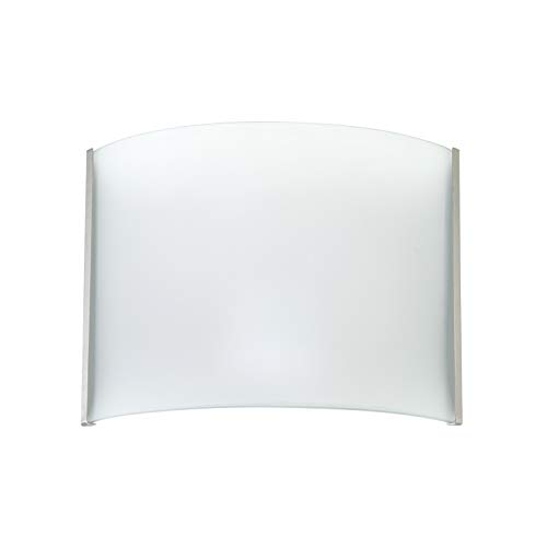 OSTWIN Wall Sconce Dimmable LED Light, Brushed Nickel Finish with Frosted Glass Shade, Hardwire, Damp Location, 12W 5000K (Daylight), ETL & Energy Star -