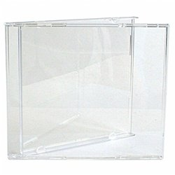 200 Standard CD Jewel Case (Carton Only, NO Trays) - Tray Case Clear Jewel