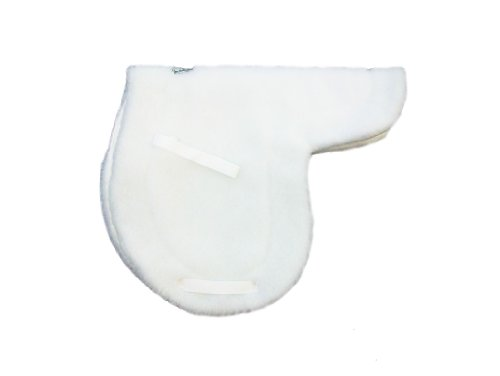 - Wilker's Custom Horse Products Style 01 Pony Saddle Pad, White, 15-15.5-Inch