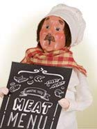Byers' Choice Butcher Caroler Figurine 4046 from The Specialty Characters Collection
