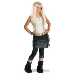 Hannah Montana with Wig Deluxe Costume: Girl's Size 4-6X