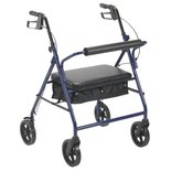 Bariatric Rollator Walker Heavy Duty with Seat 400 lbs Drive Medical