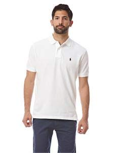 Polo Ralph Lauren Men Classic Fit Pony Logo T-shirt (Medium, White)