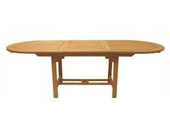 Royal Teak Collection FEO8 Oval Family Expansion Teak Table, ()