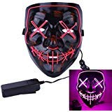 (Roolina Halloween Mask LED Light up Purge Mask for Festivals, Halloween Costume, Rave, Festivals, and Cosplay)