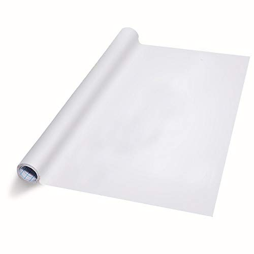 Extra Large Thicker Whiteboard Contact Paper Vinyl Wall Decal Poster (9 FEET) Self Adhesive Message Board Paint Alternative w/Bonus Dry Erase Markers - Peel and Stick Wallpaper Sizes 17.8 X 108