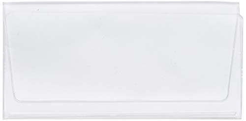 Set of 5 Clear Checkbook Protector Divider Inserts for Duplicate Checks