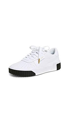 PUMA Women's CALI Sneaker, White Black, 9.5 M US