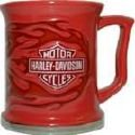 Harley Davidson 12 Oz Duo Flame Mug Red