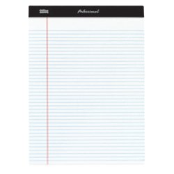 Office Depot(R) Brand Professional Legal Pad, 8 1/2in. x 11 3/4in, Narrow Ruled, 200 Pages (100 Sheets), White, Pack Of 4 ()