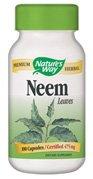 Nature's Way Premium Herbal Neem Leaf 950 mg per serving, 100 Capsules