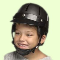 Danmar Deluxe Hard Shell Helmet- Black,Small,Each