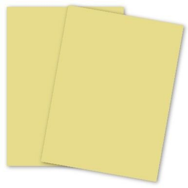 Domtar Colors - Earthchoice CANARY - Opaque Text - 8.5 x 11 Paper - 24/60 Text - 500 PK