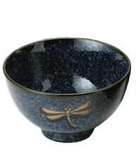 Blue Dragon Rice Bowl - Happy Sales 6 Piece Dragonfly Rice Noodle Soup Bowls, Blue