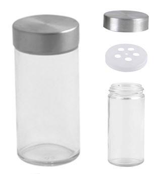 (Orii 3oz Straight Cylinder Utility Storage Jar with SS Lid/Spice Jar - 1pc)