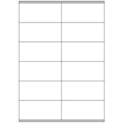 MEGASTAR lp4ms-10548–Pack of 100Sheets Self-Adhesive Labels, 105x 48mm, White