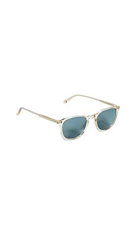 GARRETT LEIGHT Women's Kinney 47 Sunglasses, Champagne/Blue, One Size (Garrett Sunglasses)