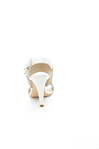 Luciano Barachini - Sandalias de vestir para mujer Naturale/Bianco Naturale/Bianco