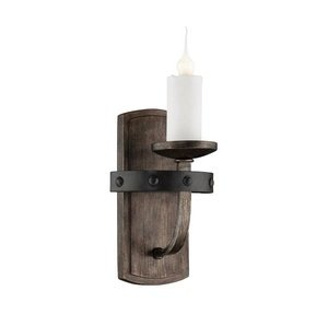 Savoy House Alsace 1 Light Sconce in Reclaimed Wood