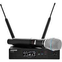 Shure QLXD24 Wireless Microphone System, G50 470-534 MHz, Includes QLXD4 Digital Wireless Receiver, QLXD2 Handheld Transmitter, BETA87A Cartridge