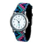 Sam And Nan Navajo Watch with Indian Blue Design Cotton Band