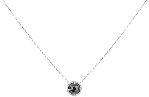 Ceranity - Collier avec pendentif - Argent 925 - Oxyde de Zirconium - 45 cm - 1-72/0032-N
