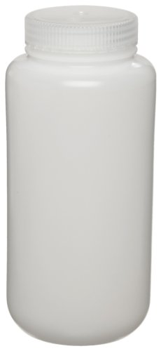 Nalgene 3120-9500 Polypropylene Copolymer 500mL Centrifuge Bottle with Polypropylene Screw Closure, Max Rating 13700 x g (Pack of 4)