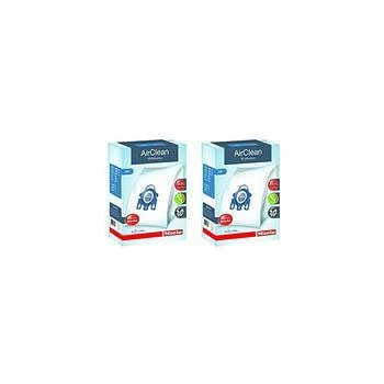 Miele GN AirClean 3D Efficiency Dust Bags for Miele Vacuum, 2-Boxes of 4 Bags & 2 Filters