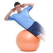 30″ Anti-burst Swiss Exercise Ball, Orange