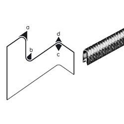 Edge trim PVC black application range 4.0 - 6.0 mm height 16.6mm width 11.5mm