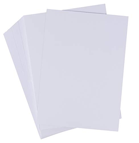 Index Cards - 200-Pack 5x7 Heavyweight White Cardstock, 110lb 300GSM Cover Card stock, Unruled Thick Paper, For Flash Note, Postcard, Invitation, Brochure, Marketing Material, Signage, 5 x 7 Inches (5x7 Paper)
