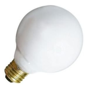 Satco S3441 - 40 Watt Light Bulb - G25 Globe - White - 2,500 Life Hours - 340 Lumens - Medium Base - 120 Volt